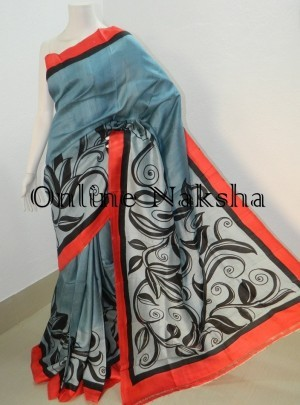 Acid Paint Silk Saree
