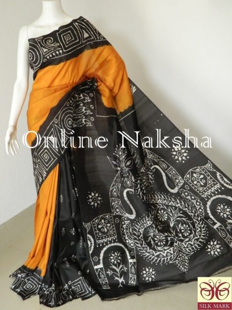 Batik Silk Saree