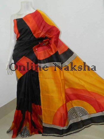 Printed Silk Sari Online