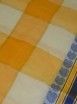 Cotton Check Saree