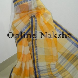 3677 Handloom Cotton Check Saree