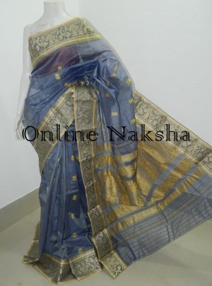 Tussar Baluchari Saree