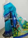 Painting Pure Silk Saree