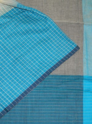 3752 Soft Check Cotton Saree