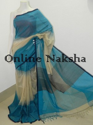 Check Cotton Saree