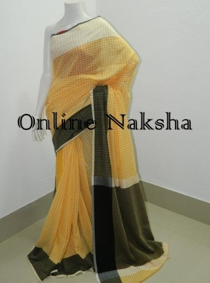 Gamcha Check Cotton Saree