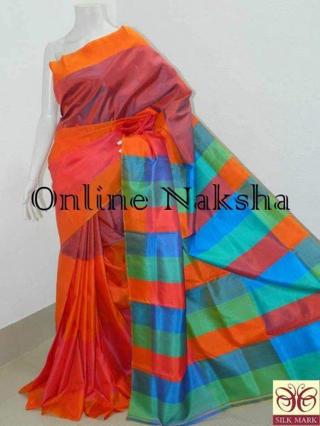 Mayurkanthi Mulberry Silk Sari