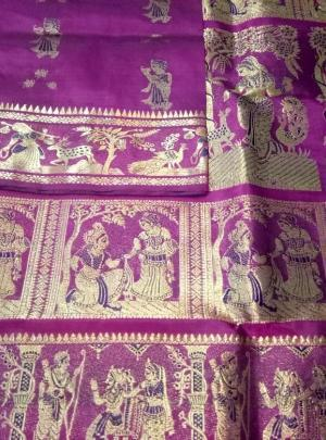 Minakari Swarnachari Silk Saree