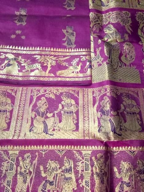 Minakari Swarnachari Silk Saree