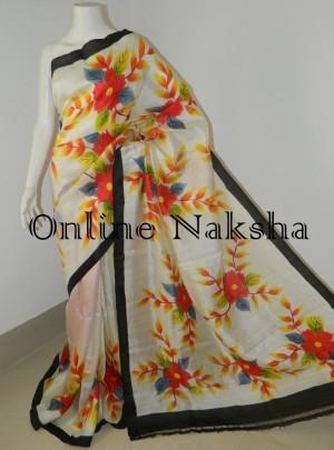 Floral Acid Painted Saree