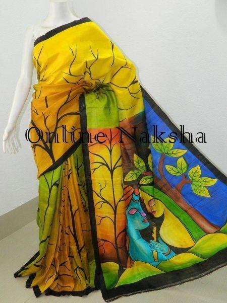 Acid Paint Pattu Sarees