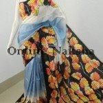 Acid Painted Silk Saree