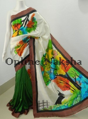 Painted Pure Silk Online