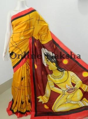 Handpainted Silk Saree Online