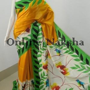 3847 Painted Pattu Saree Online