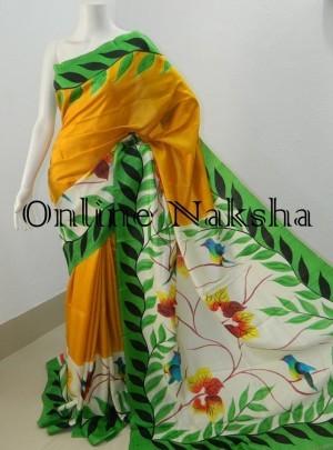 Painted Pattu Saree Online