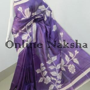 3848 Acid Painted Silk Saree Online