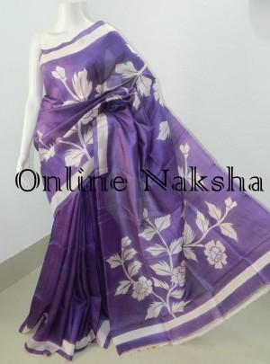 Painted Silk Saree Online
