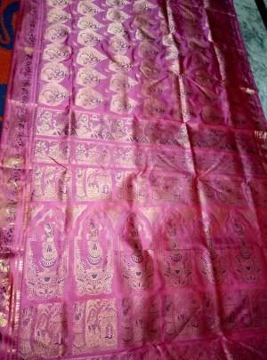 Bridal Bishnupuri Swarnachari Saree