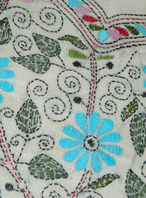 Sober Tussar Kantha Dress Materials