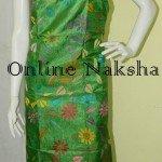 Green Tussar Kantha Kurti Piece
