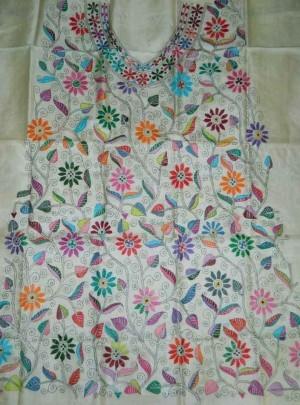 Tussar Kantha Dress Material