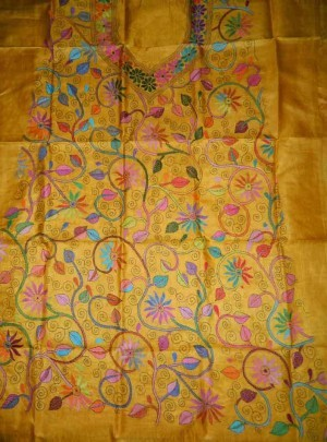 Unstitched Tussar Dress Material