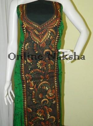 Batik Kantha Dress Material