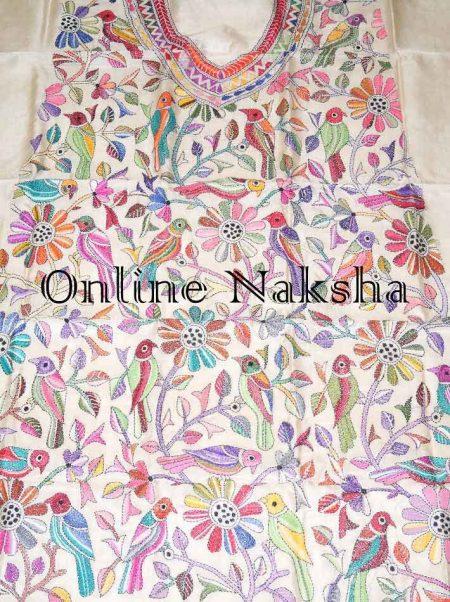 kantha Stitch Dress Material