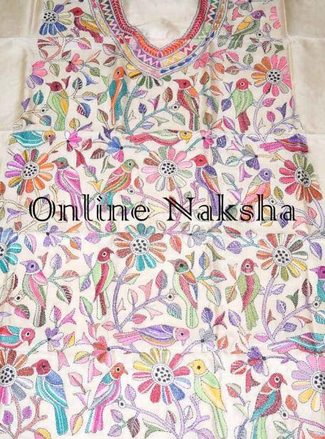 kantha Stitch Dress Material