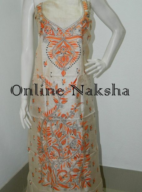 Hand Embroidery Kurti Piece Online