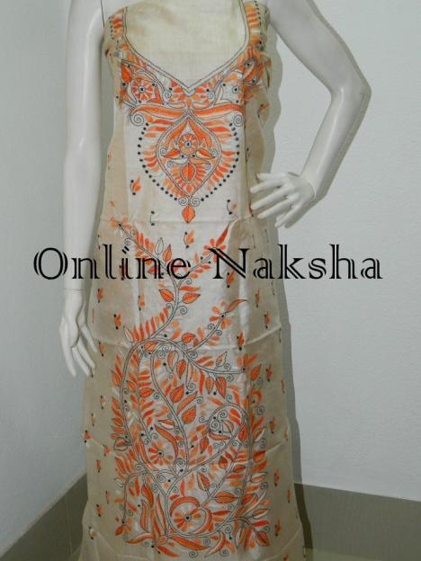 Hand Embroidery Kurti Piece Online