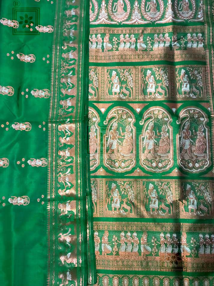 Bishnupuri Swarnachari Silk Sarees