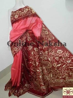 Sonamukhi Silk Hand Batik Saree