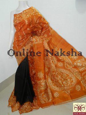Sonamukhi Silk Batik Saree