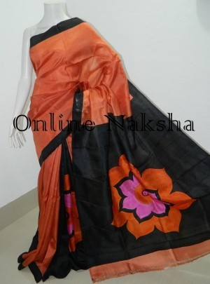 Painted Pure Silk Saree Online