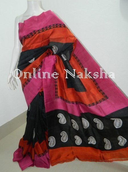 Handloom Block Print Saree