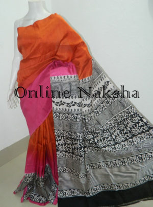Pure Silk Block Print Saree