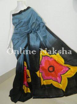 Acid Paint Pure Soft Silk Saree