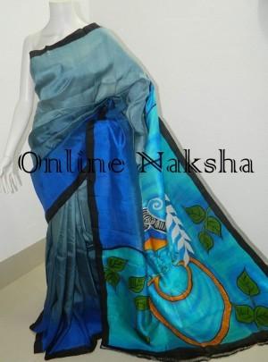 Krishna Painting Soft Silk Saree