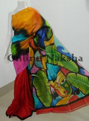 Latest Acidpainted Soft Silk Sari
