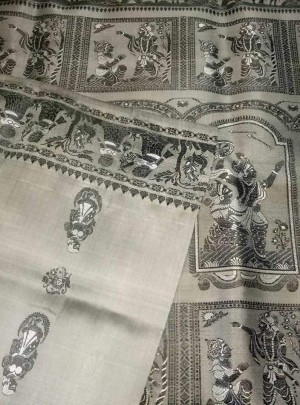 Grey Baluchari Saree Online
