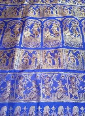 Bishnupuri Swarnachari Silk Saree