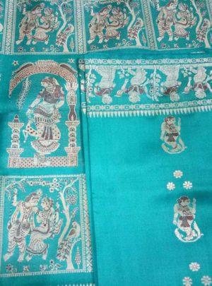 Bishnupuri Baluchari Pure Silk Saree