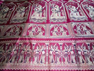 Handloom Bishnupuri Baluchari Saree