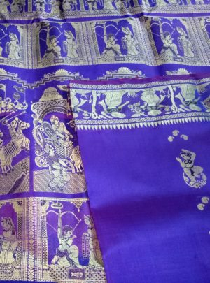 Blue Baluchari Saree Online