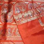 Orange Bridal Swarnachari Silk Saree