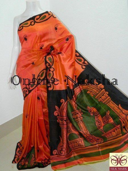 Hand Paint Silk Saree Online