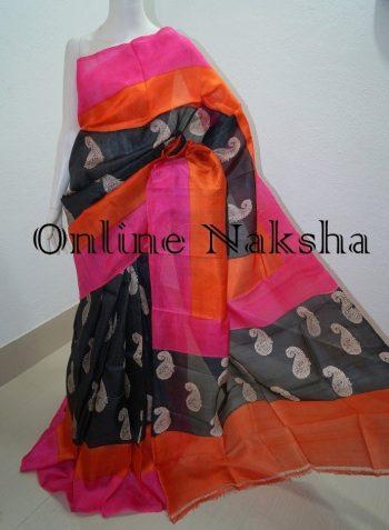 Hand Block Printed Sari Online