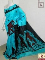 Designer Pure Silk Sari